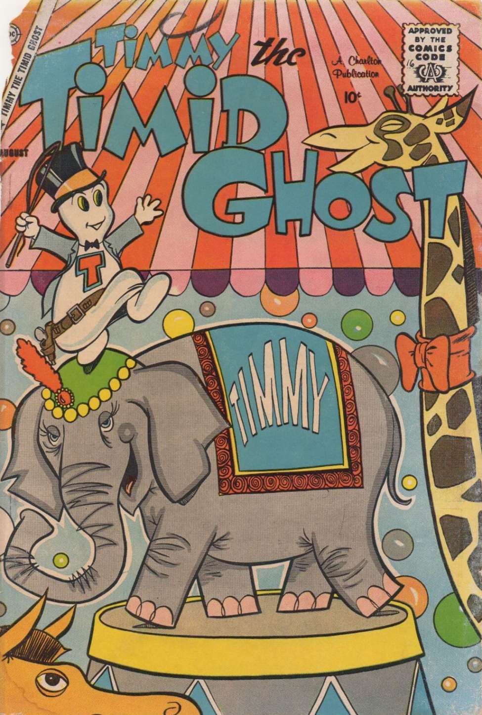 Comic Book Cover For Timmy the Timid Ghost #16