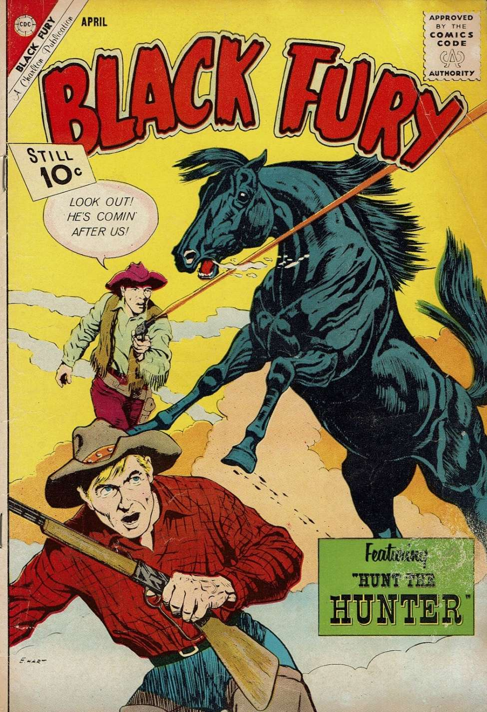 Comic Book Cover For Black Fury #35
