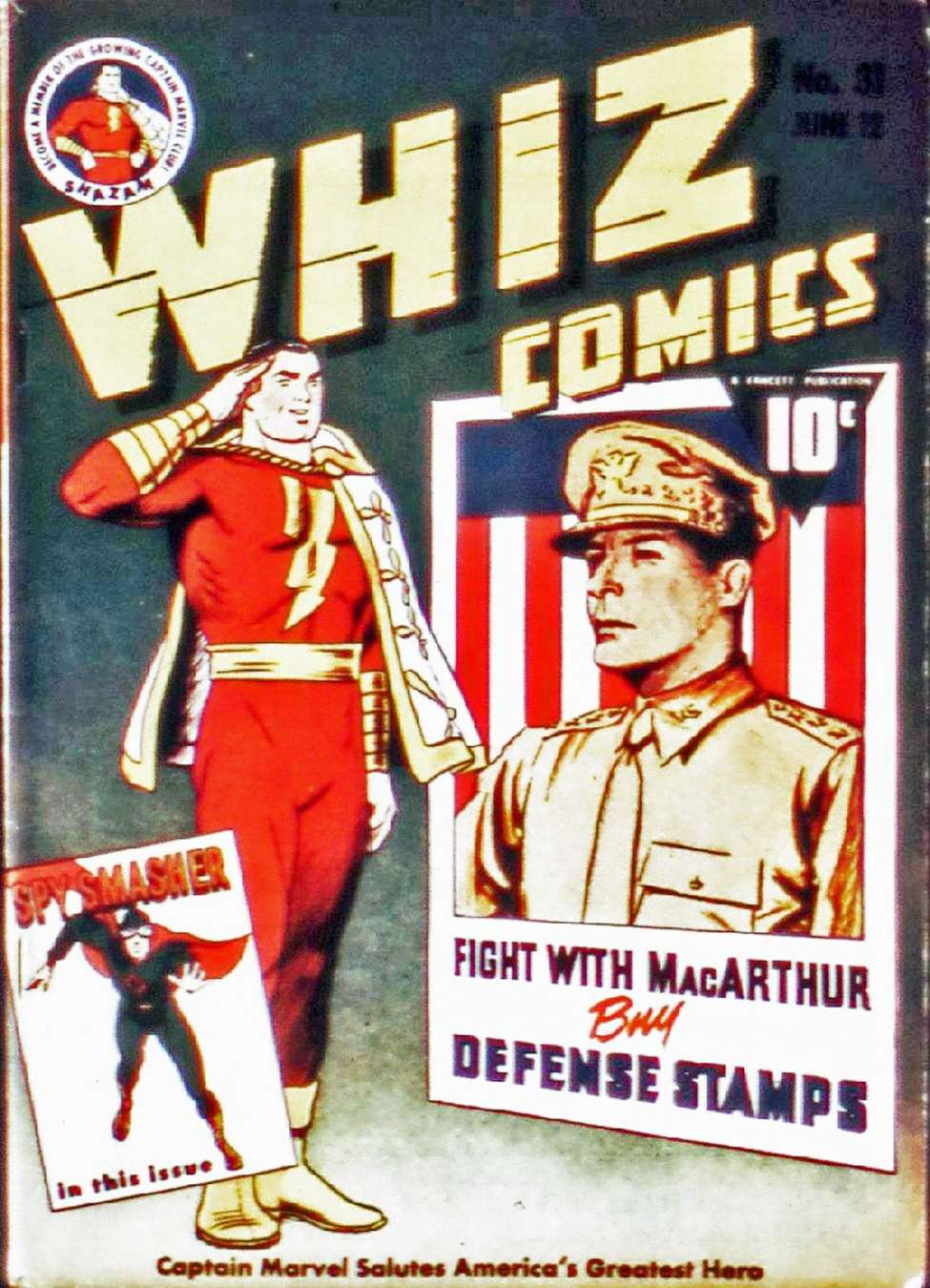 Comic Book Cover For Capt. Marvel Whiz Archives Vol 07