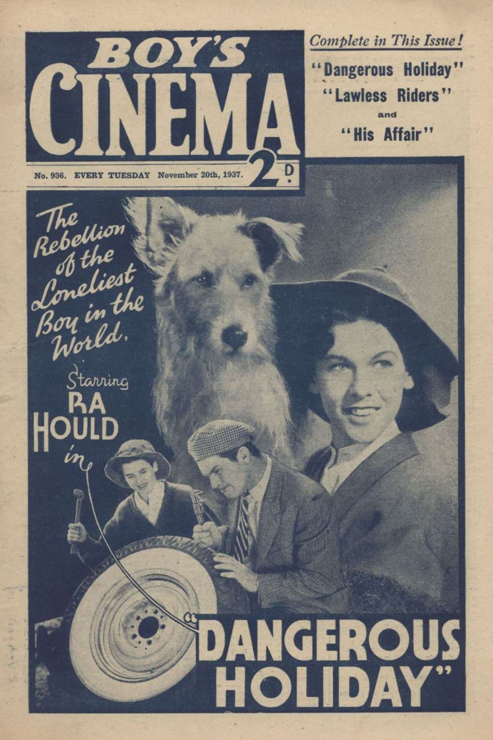 Comic Book Cover For Boy's Cinema 0936 - Dangerous Holiday starring Ra Hould