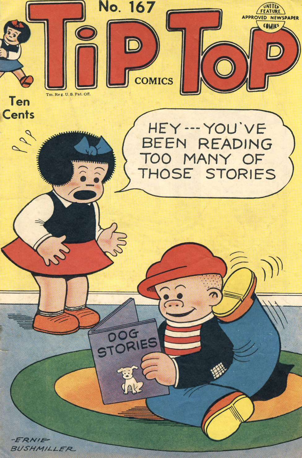 Comic Book Cover For Tip Top Comics 167
