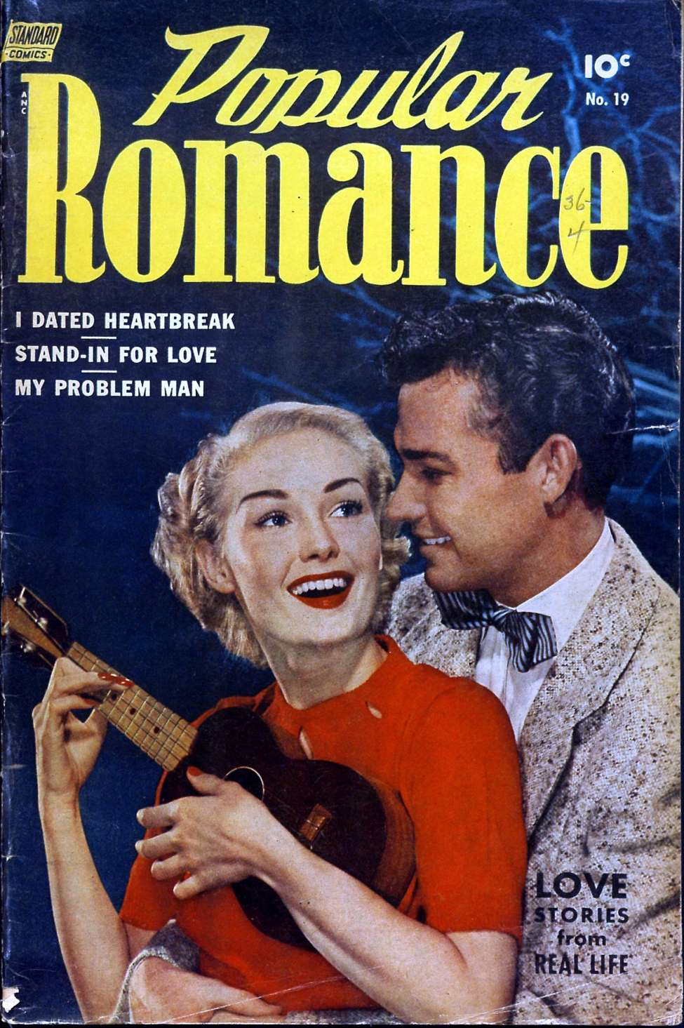 Comic Book Cover For Popular Romance #19