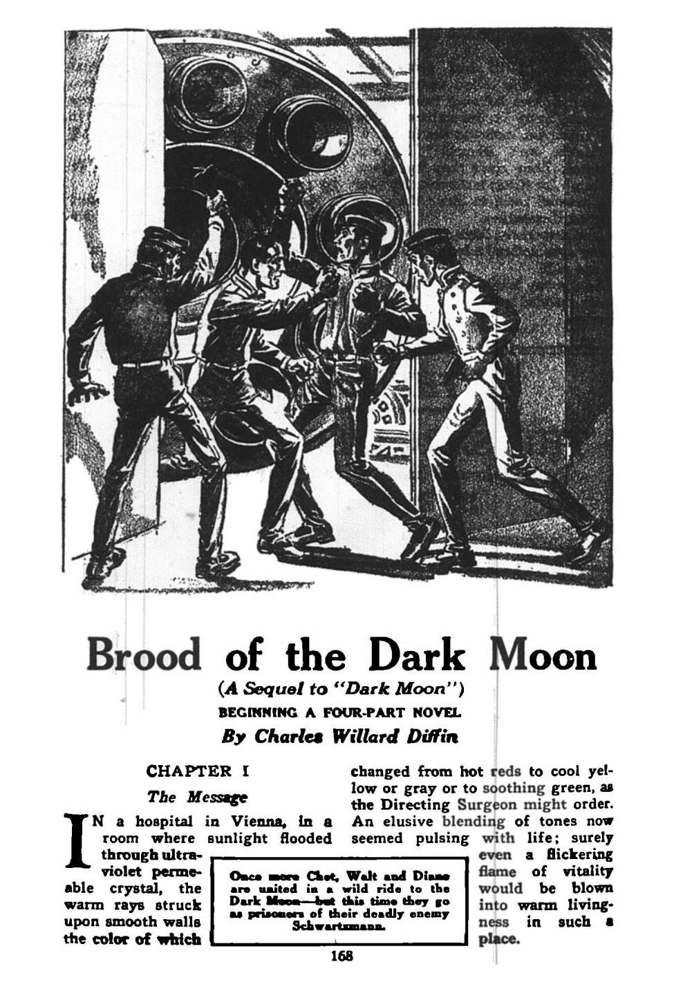 Comic Book Cover For Astounding Serial - Brood of the Dark Moon - C W Diffin