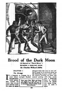 Large Thumbnail For Astounding Serial - Brood of the Dark Moon - C W Diffin