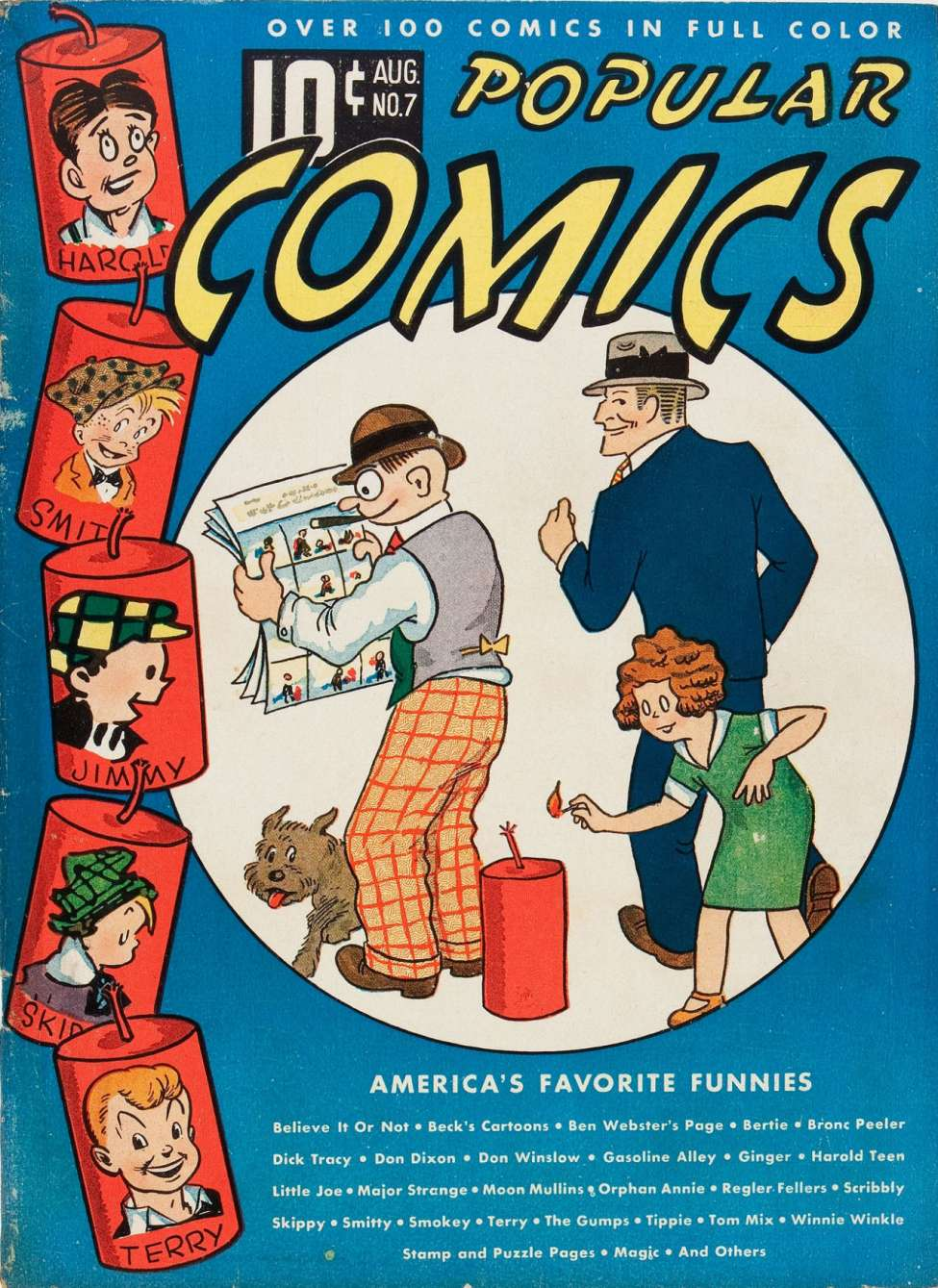 Comic Book Cover For Popular Comics #7