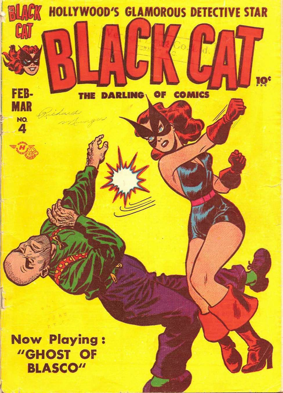 Comic Book Cover For Black Cat #4
