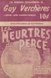 Cover For Guy Verchères 6 Les meurtres de Percé