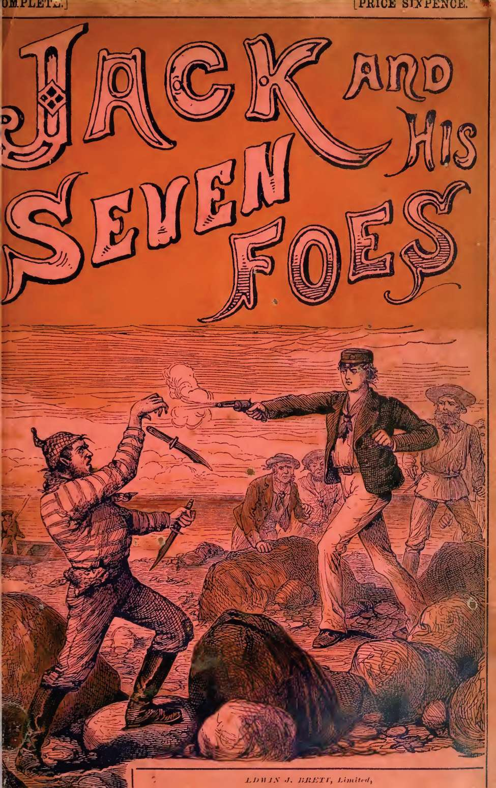 Comic Book Cover For Jack and His Seven Foes