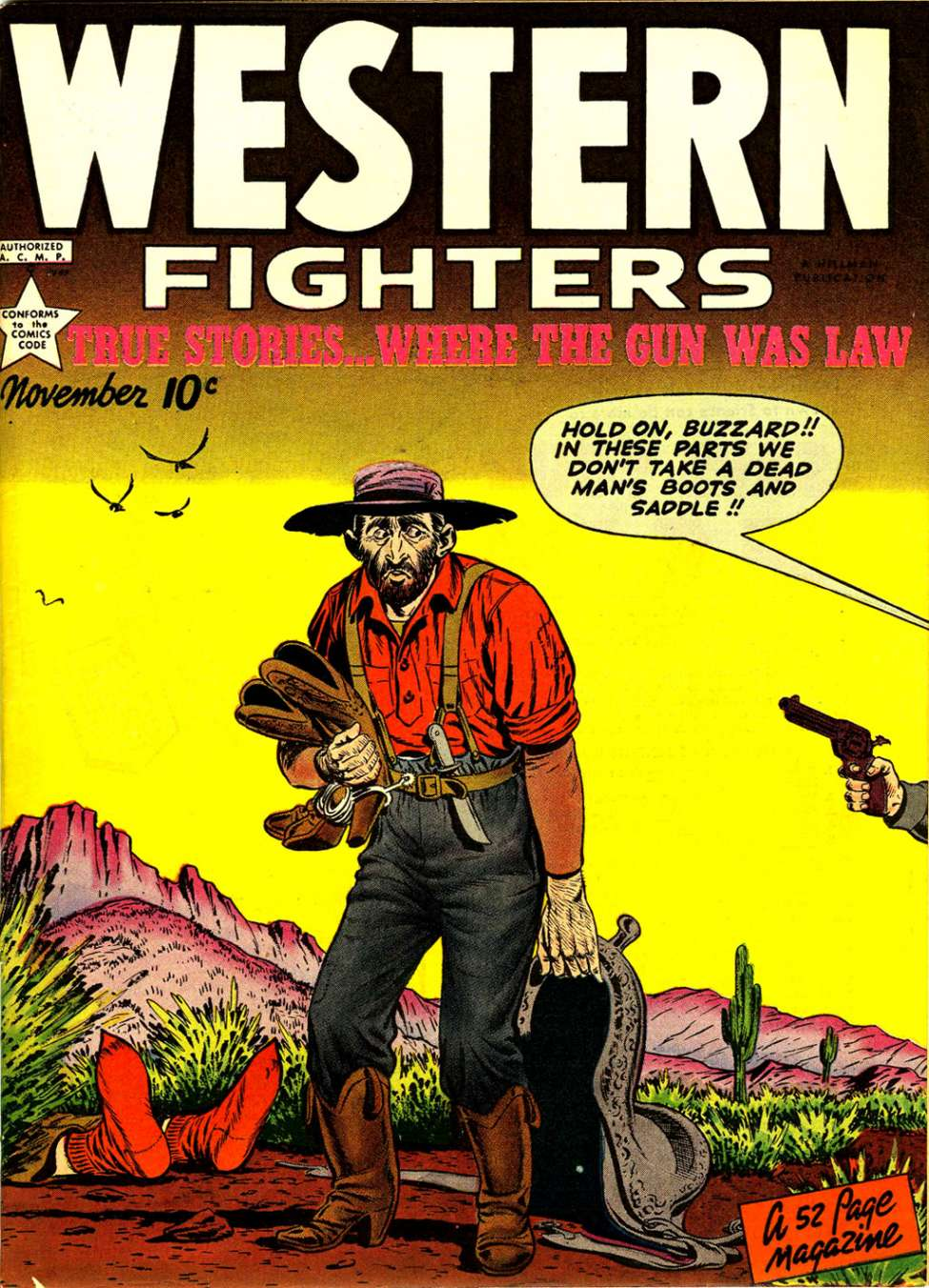 Comic Book Cover For Western Fighters v1 #12