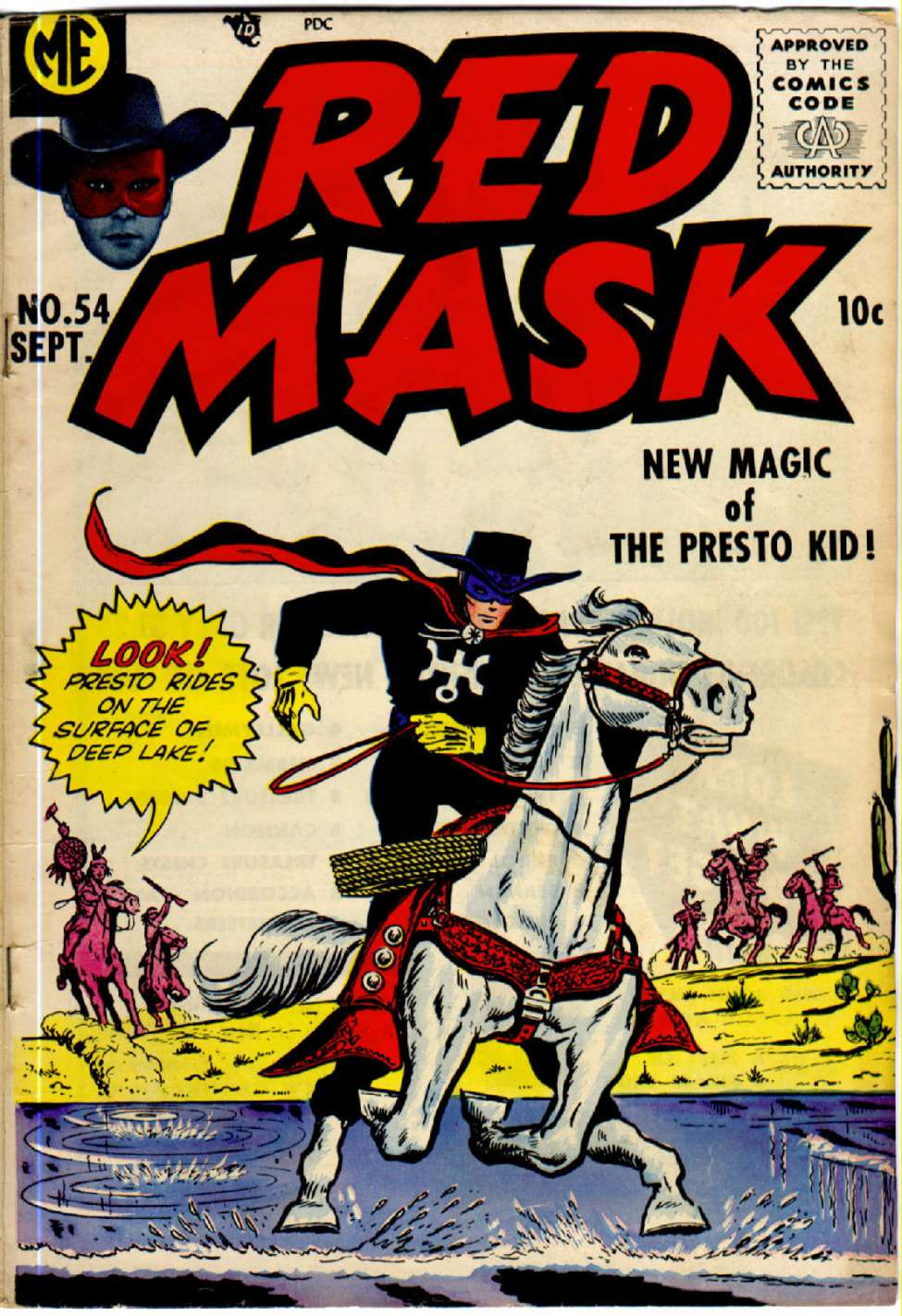 Comic Book Cover For Red Mask #54