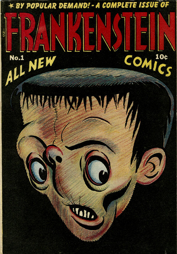 Comic Book Cover For Frankenstein #1