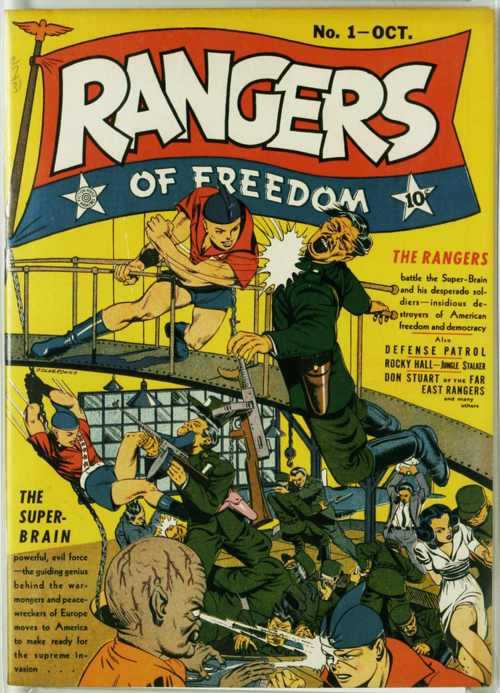 Comic Book Cover For Rangers of Freedom Comics #1