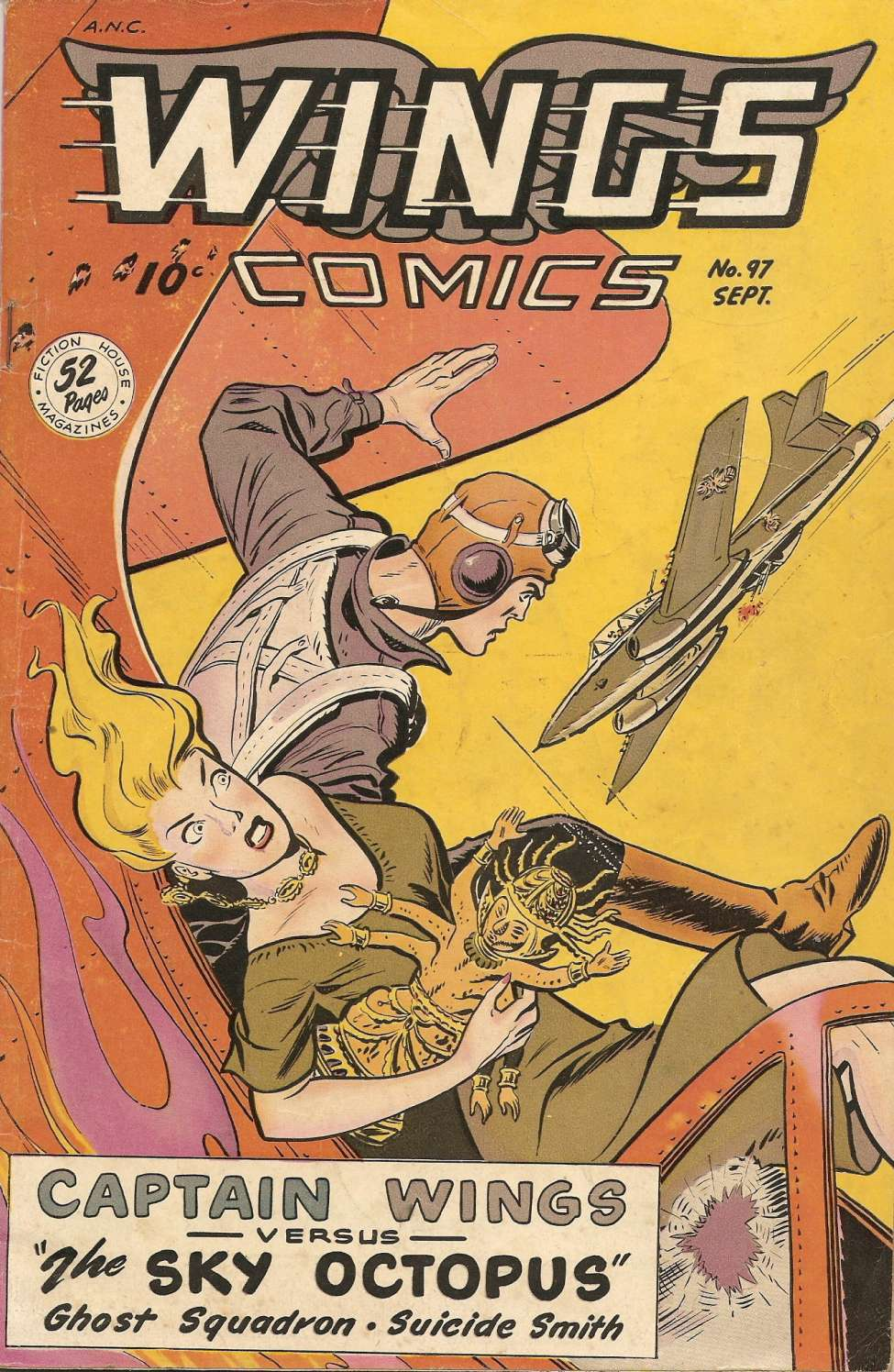 Comic Book Cover For Wings Comics #97