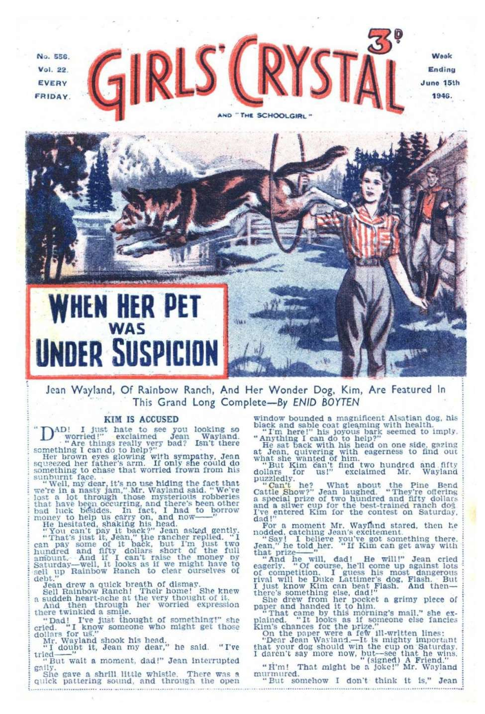 Comic Book Cover For Girls' Crystal 0556 - When Her Pet was Under Suspicion