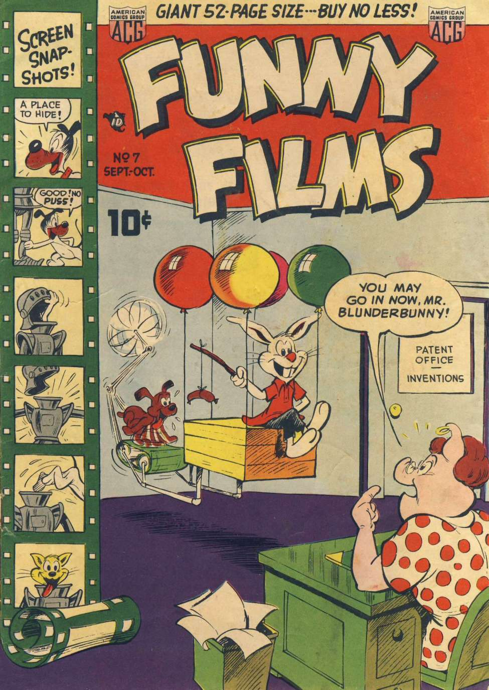 Comic Book Cover For Funny Films #7