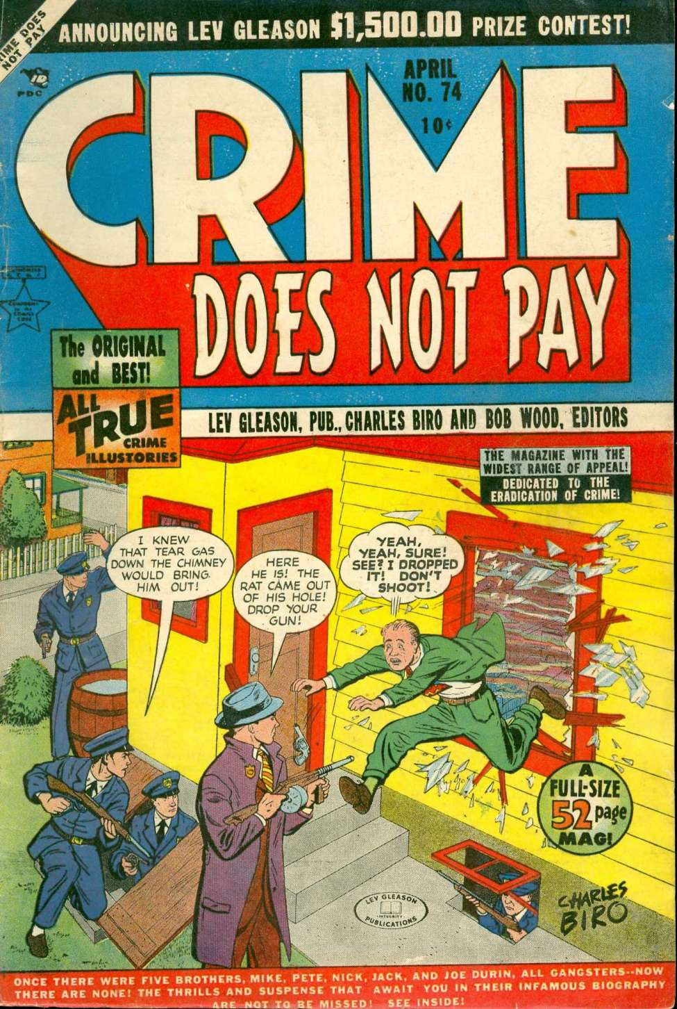 Comic Book Cover For Crime Does Not Pay #74 - Version 1