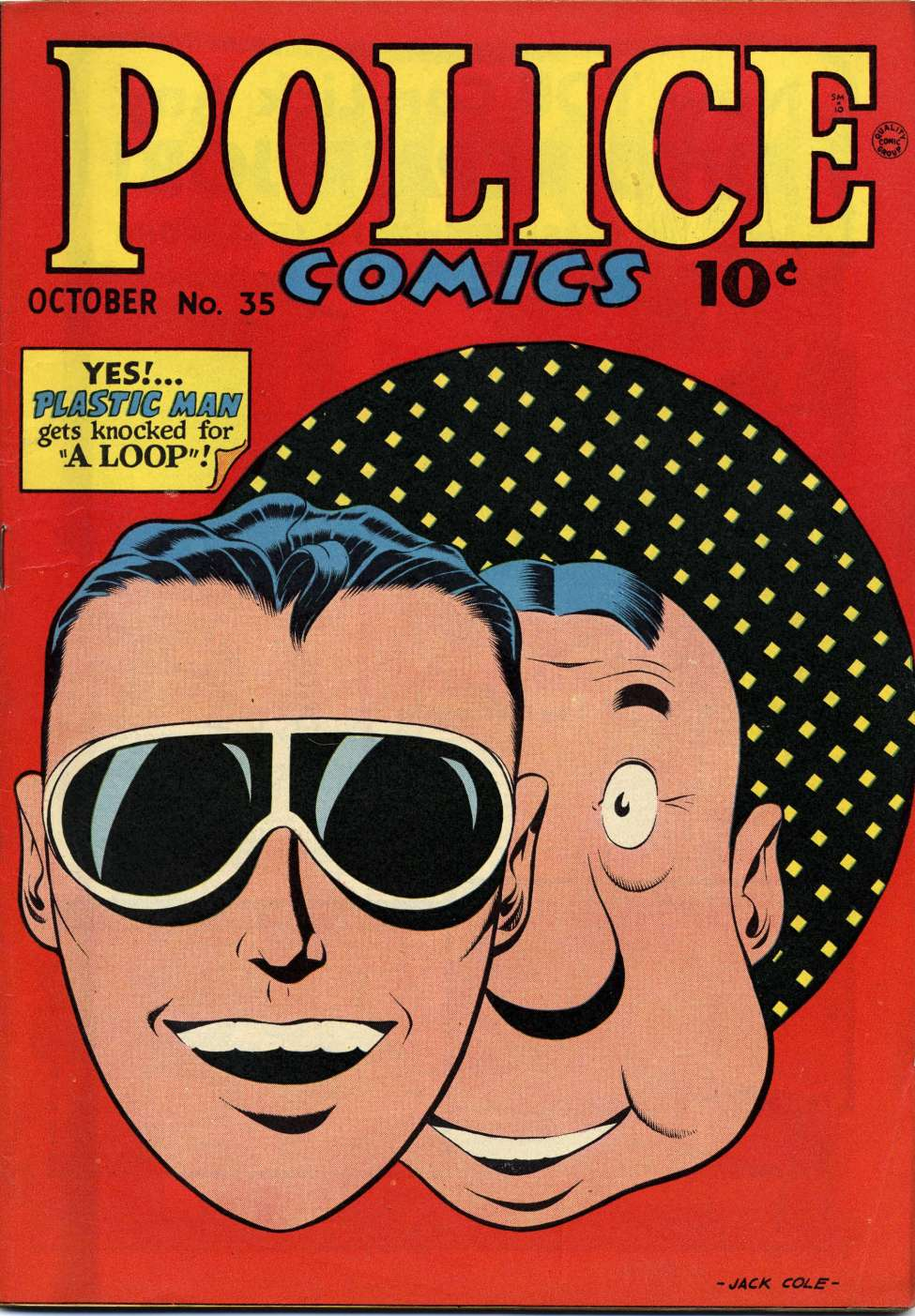 Comic Book Cover For Police Comics #35