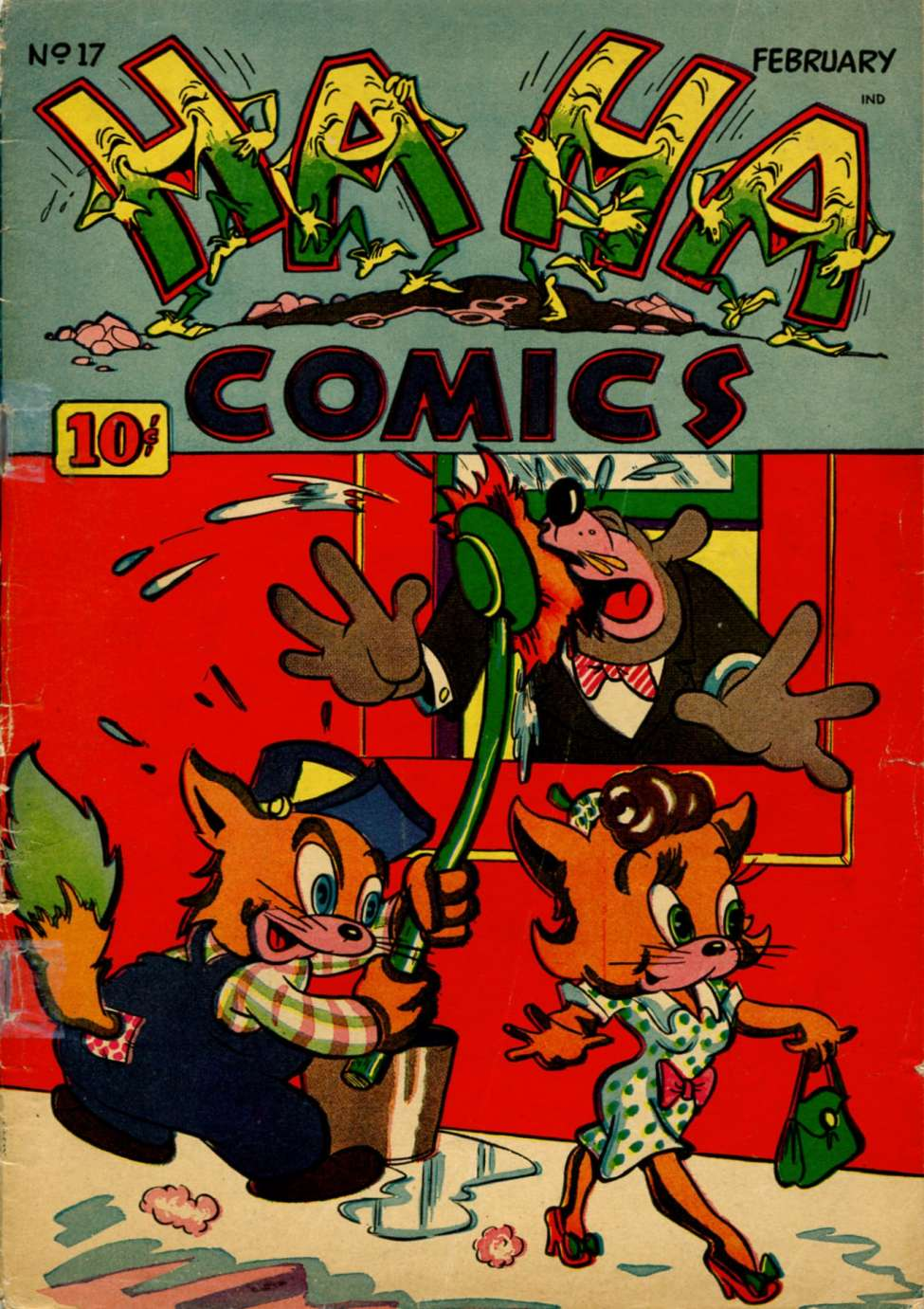 Comic Book Cover For Ha Ha Comics #17