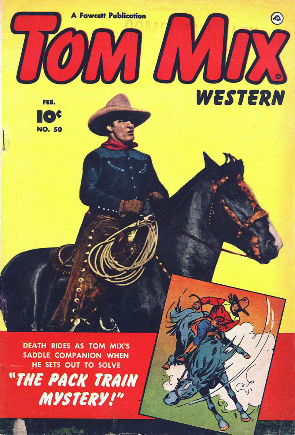 Comic Book Cover For Tom Mix Western #50
