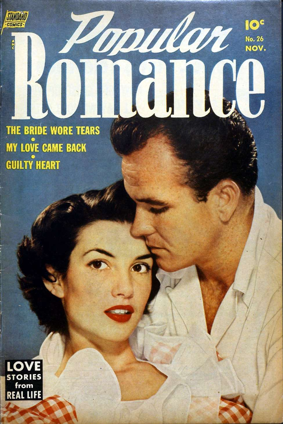 Comic Book Cover For Popular Romance #26