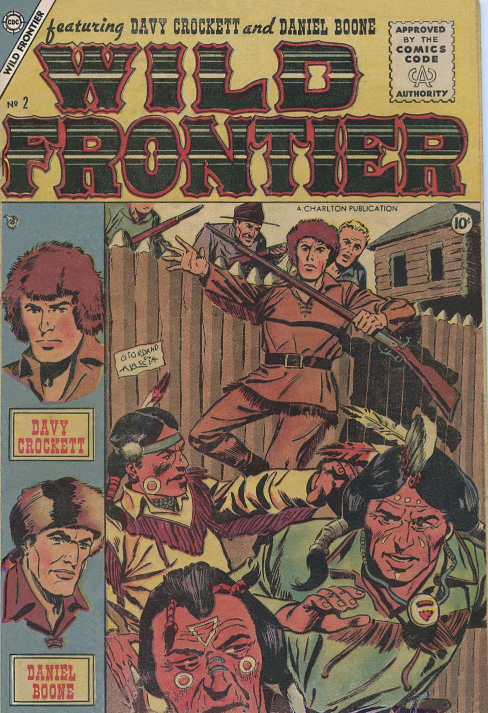 Comic Book Cover For Wild Frontier #2