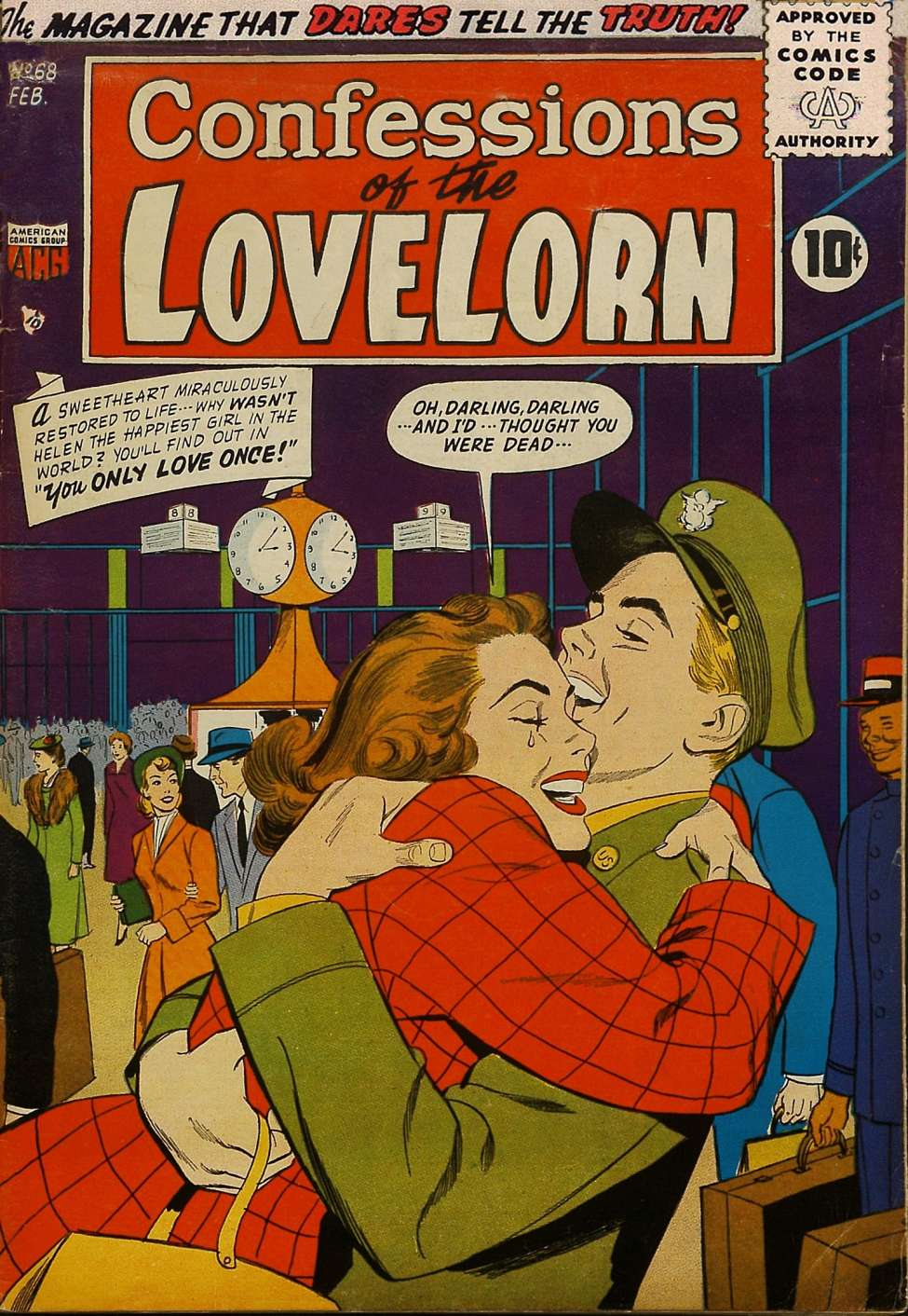 Comic Book Cover For Lovelorn #68