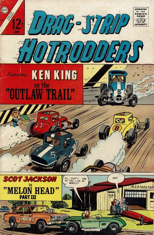 Comic Book Cover For Drag-Strip Hotrodders 15