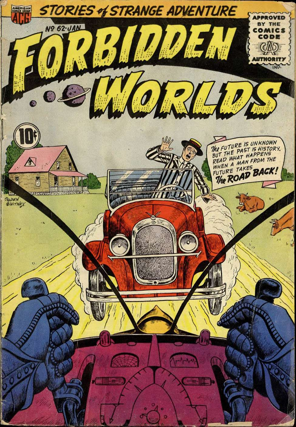 Comic Book Cover For Forbidden Worlds #62