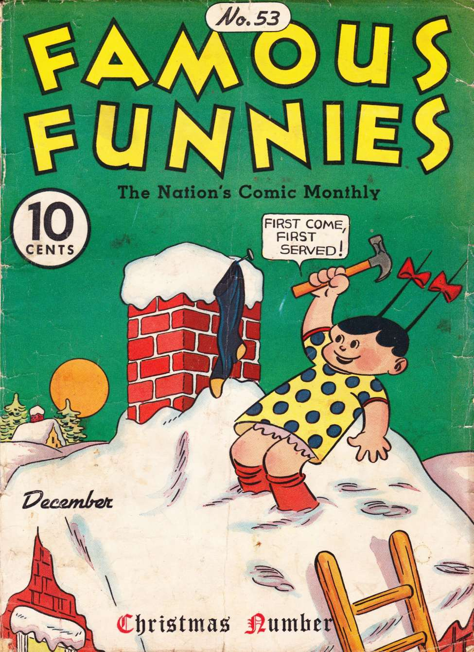 Comic Book Cover For Famous Funnies #53