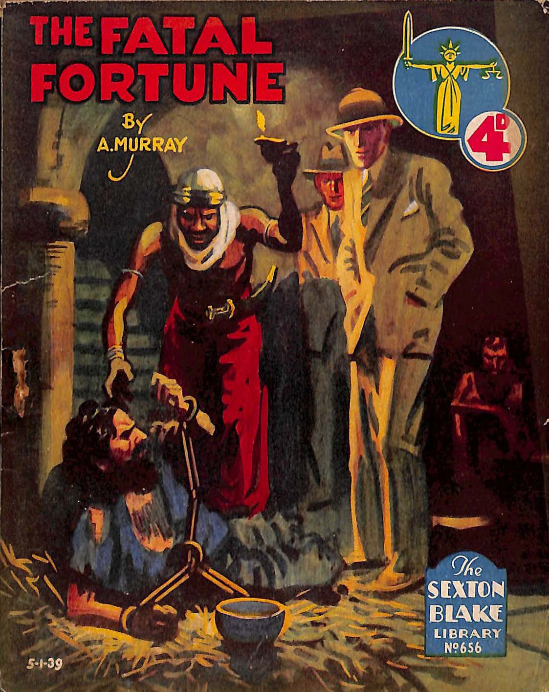 Comic Book Cover For Sexton Blake Library S2 656 - The Fatal Fortune