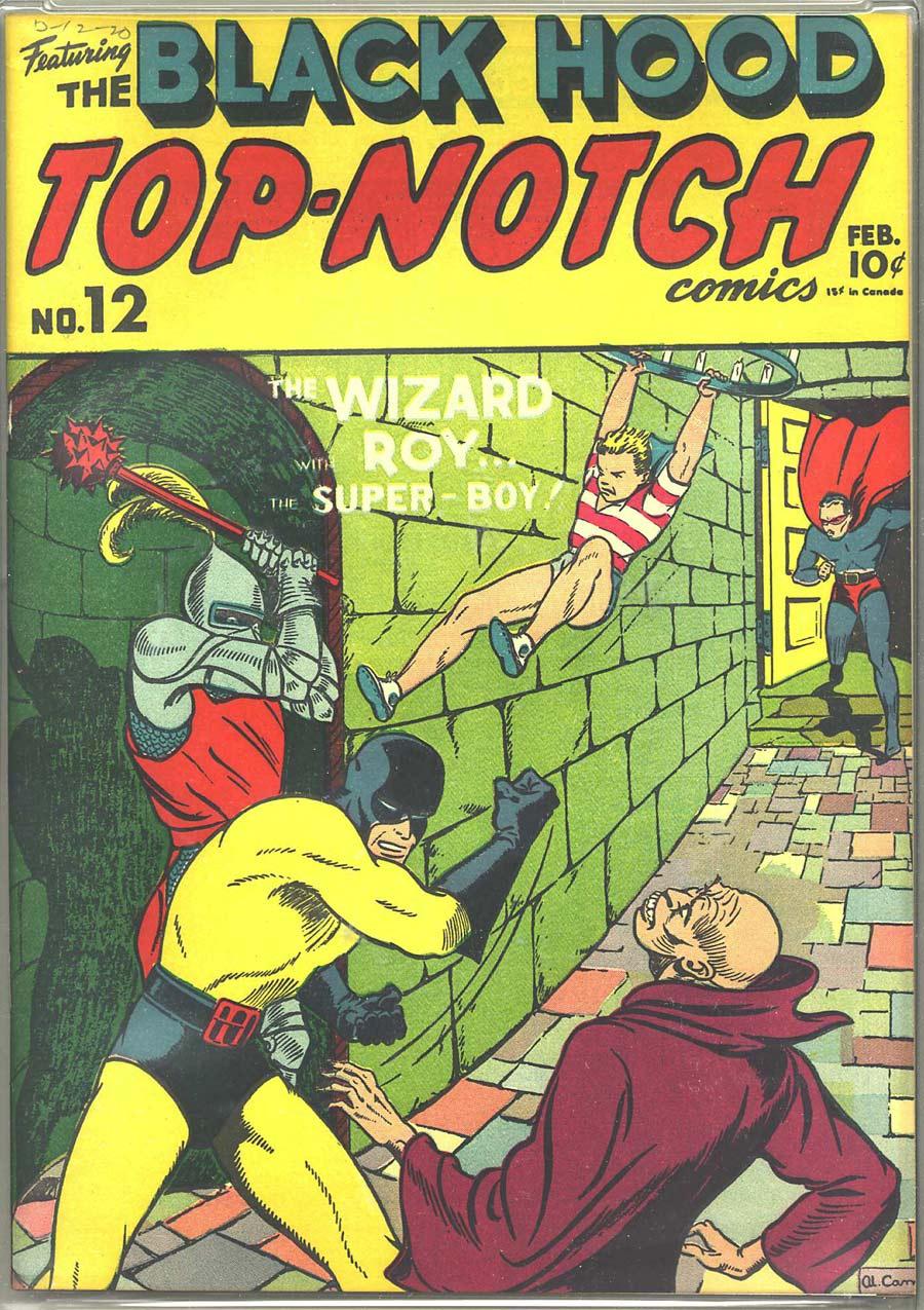 Comic Book Cover For Top Notch Comics #12