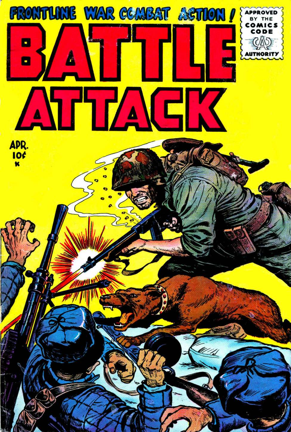 Comic Book Cover For Battle Attack #4