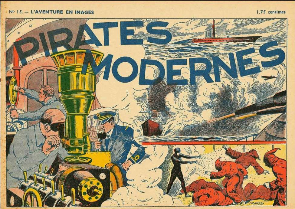 Comic Book Cover For L'aventure en images 15 - Pirates Modernes
