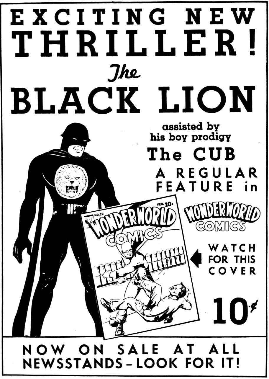 Comic Book Cover For Black Lion & Cub Compendium