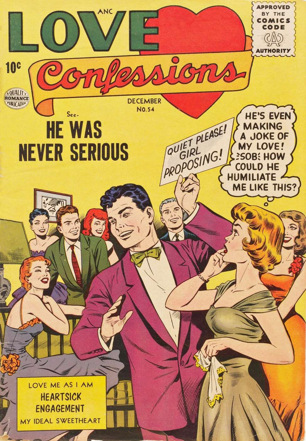 Comic Book Cover For Love Confessions #54