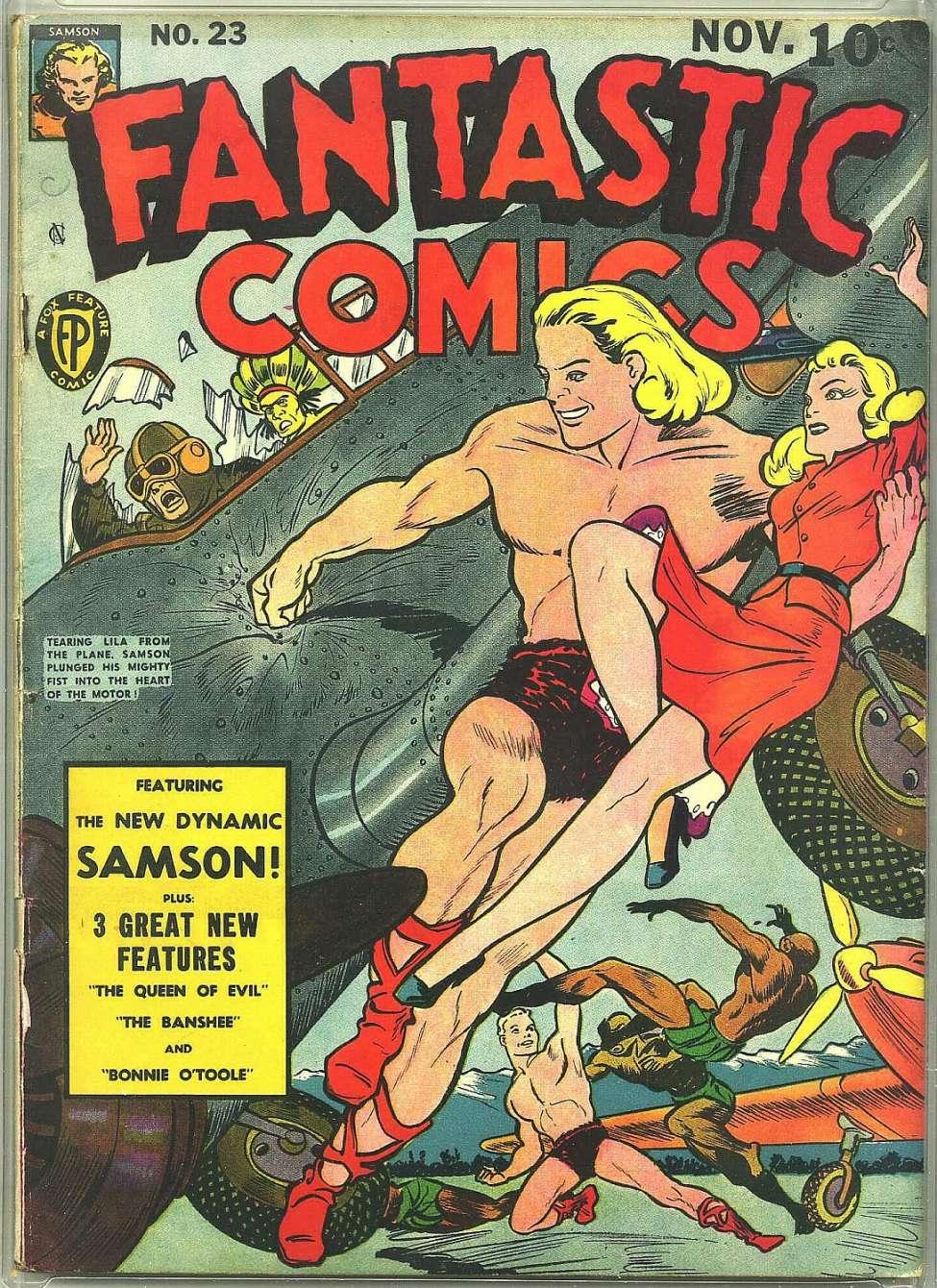 Comic Book Cover For Fantastic Comics #23