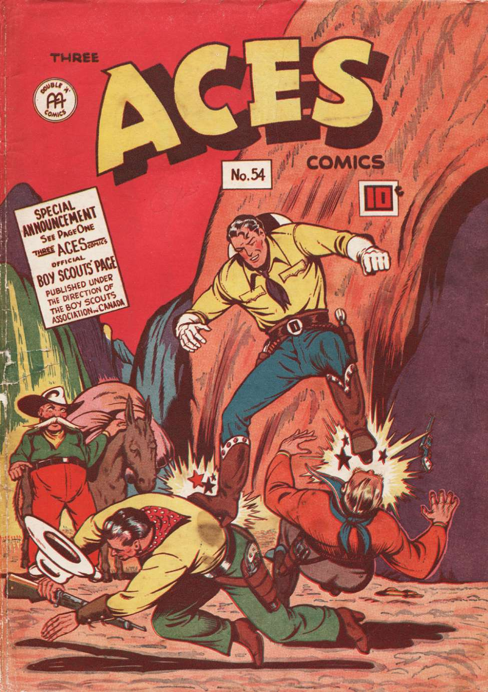 Comic Book Cover For Three Aces Comics #54