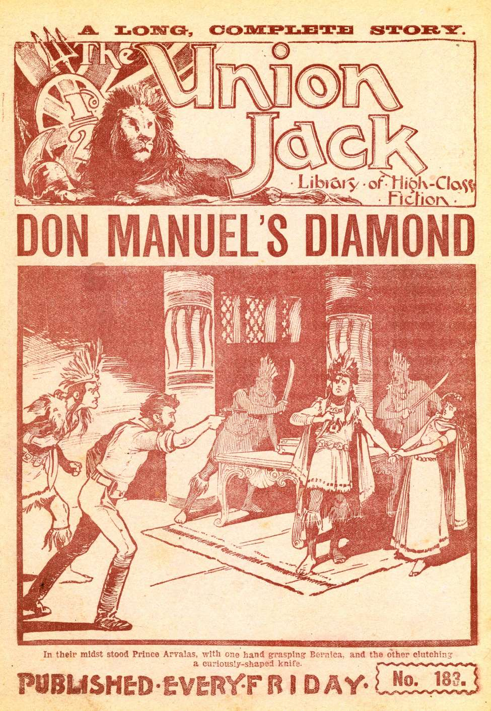 Comic Book Cover For The Union Jack 183 - Don Manuel's Diamond
