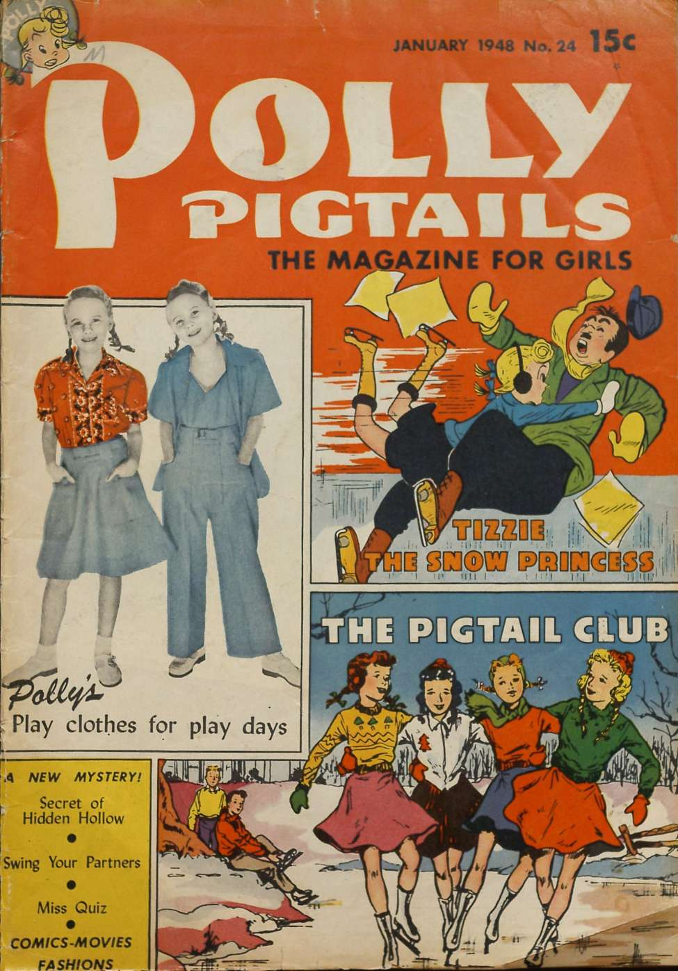 Comic Book Cover For Polly Pigtails #24