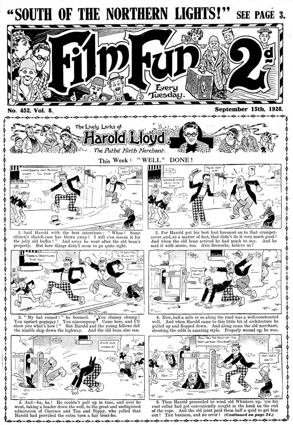 Comic Book Cover For Film Fun #452
