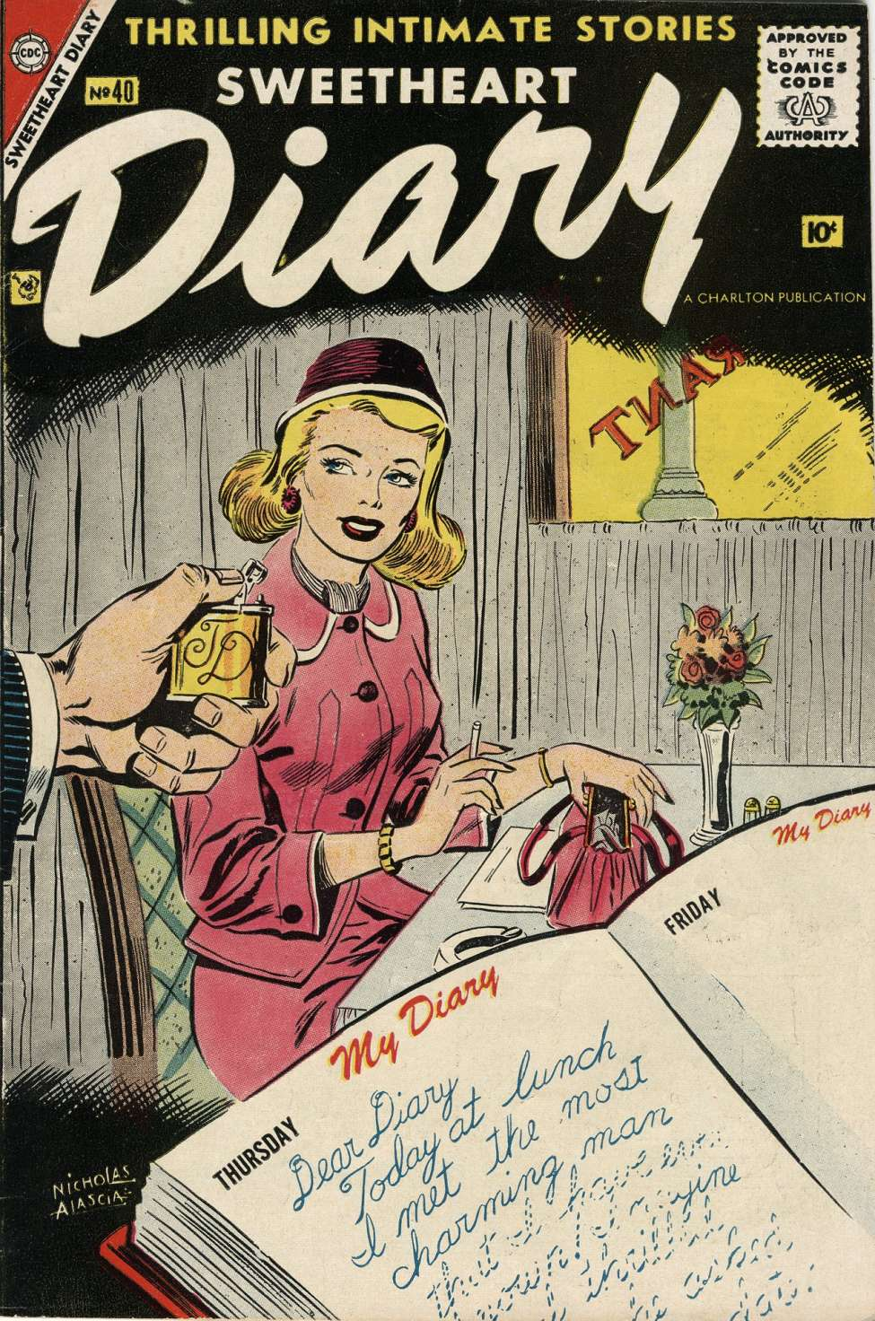 Comic Book Cover For Sweetheart Diary #40