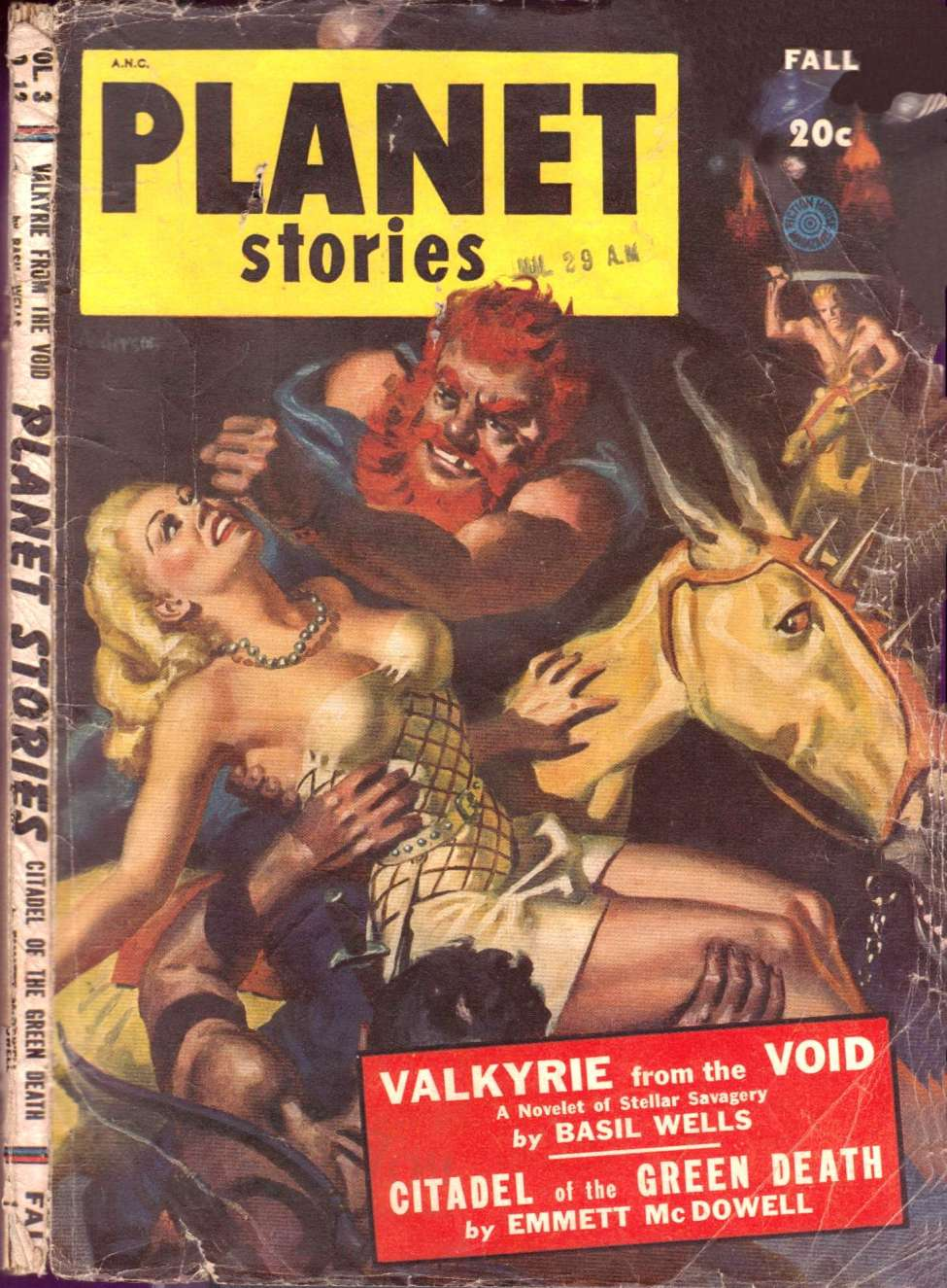 Comic Book Cover For Planet Stories v03 12 - Valkyrie from the Void - Basil Wells
