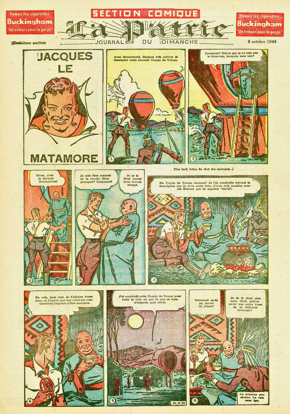 Comic Book Cover For La Patrie - Section Comique (1944-10-08)