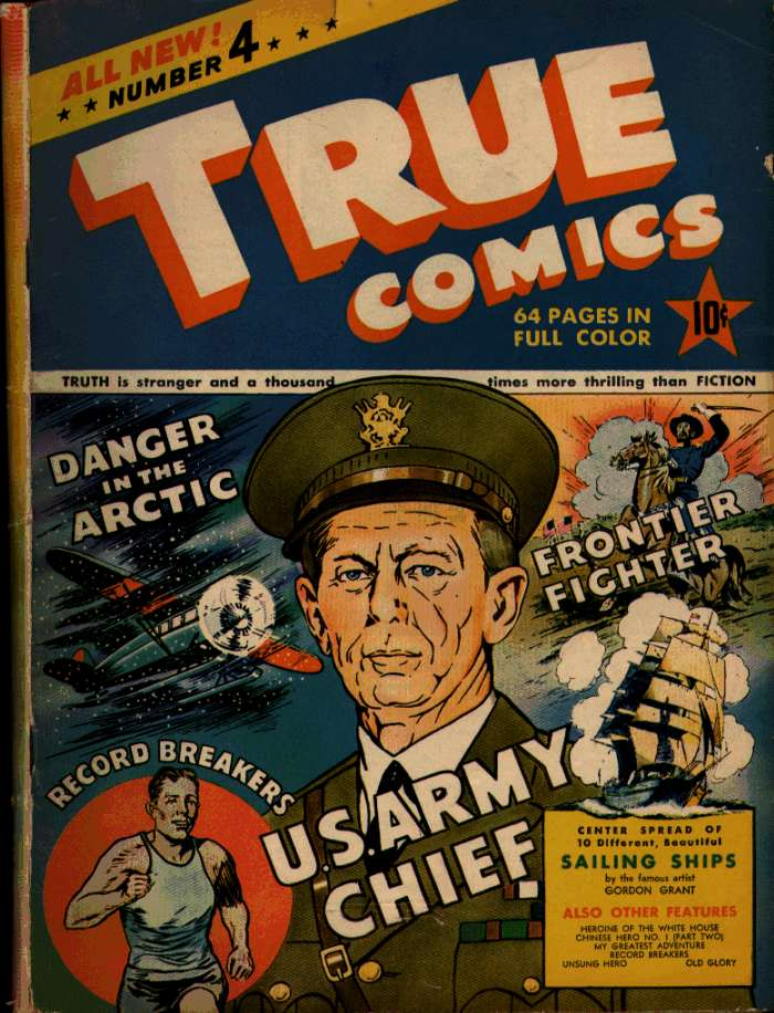 Comic Book Cover For True Comics #4