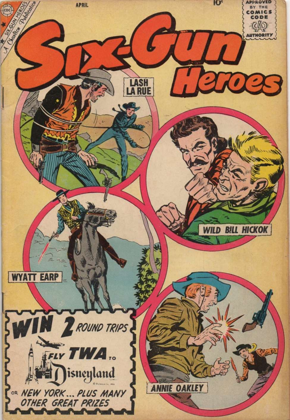 Comic Book Cover For Six-Gun Heroes #56
