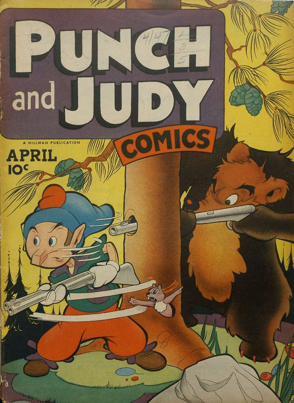 Comic Book Cover For Punch and Judy Comics v2 #9