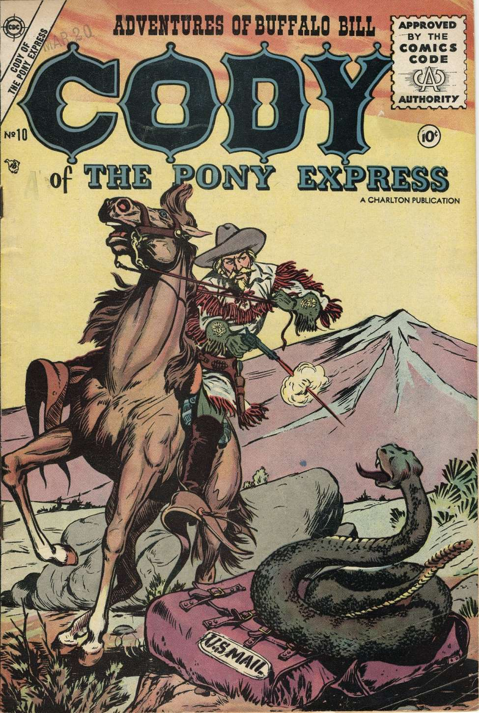 Comic Book Cover For Cody of the Pony Express #10