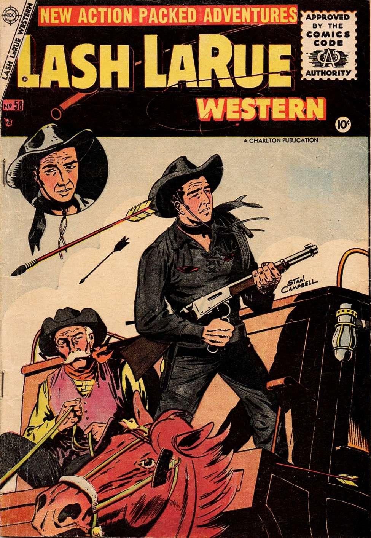 Comic Book Cover For Lash Larue Western #58