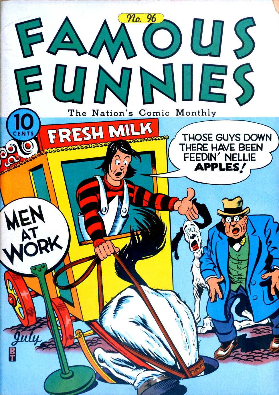 Comic Book Cover For Famous Funnies #96