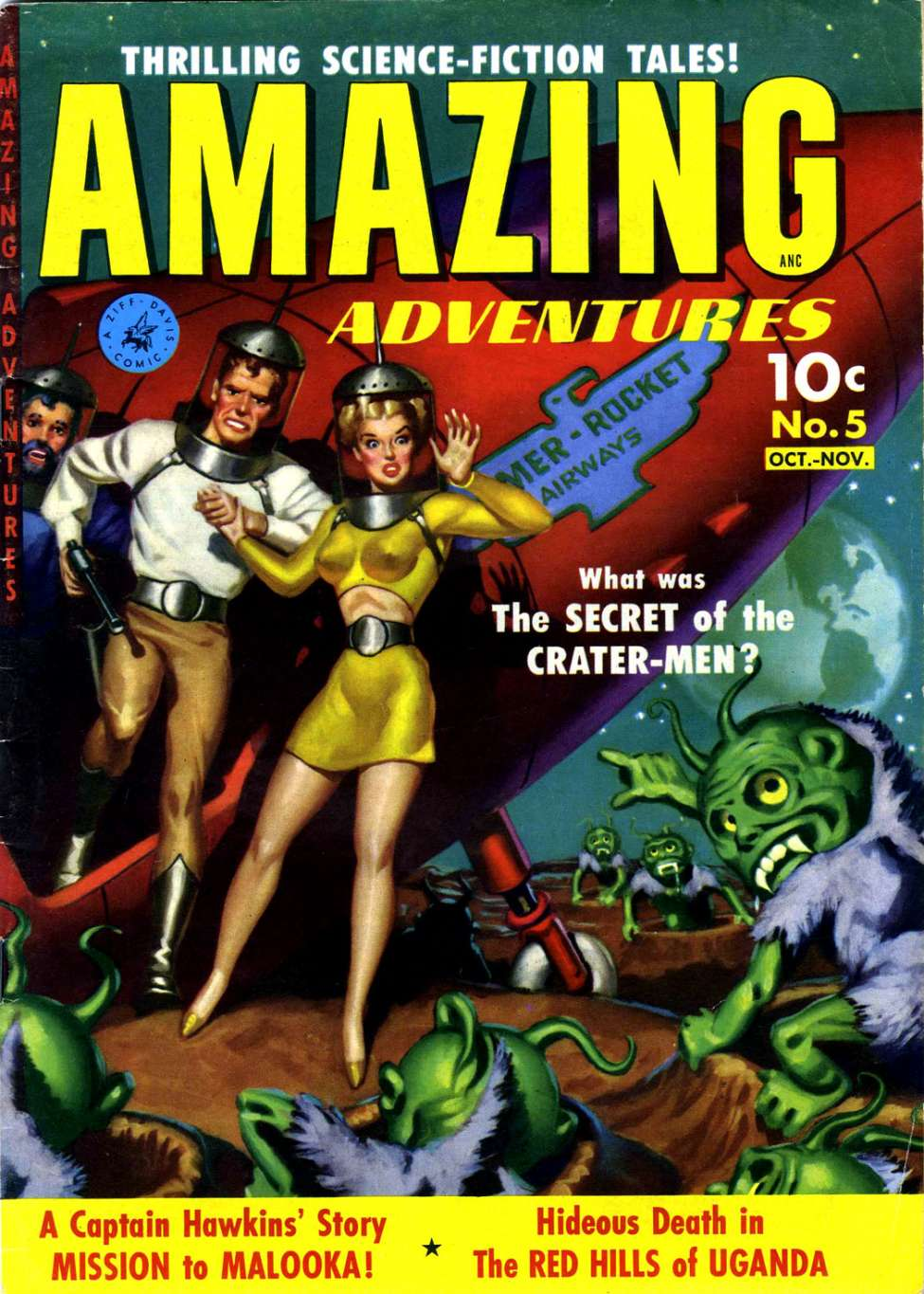 Comic Book Cover For Amazing Adventures #5